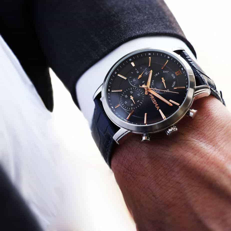 prisma horloges watches traveller refined blue suit pak