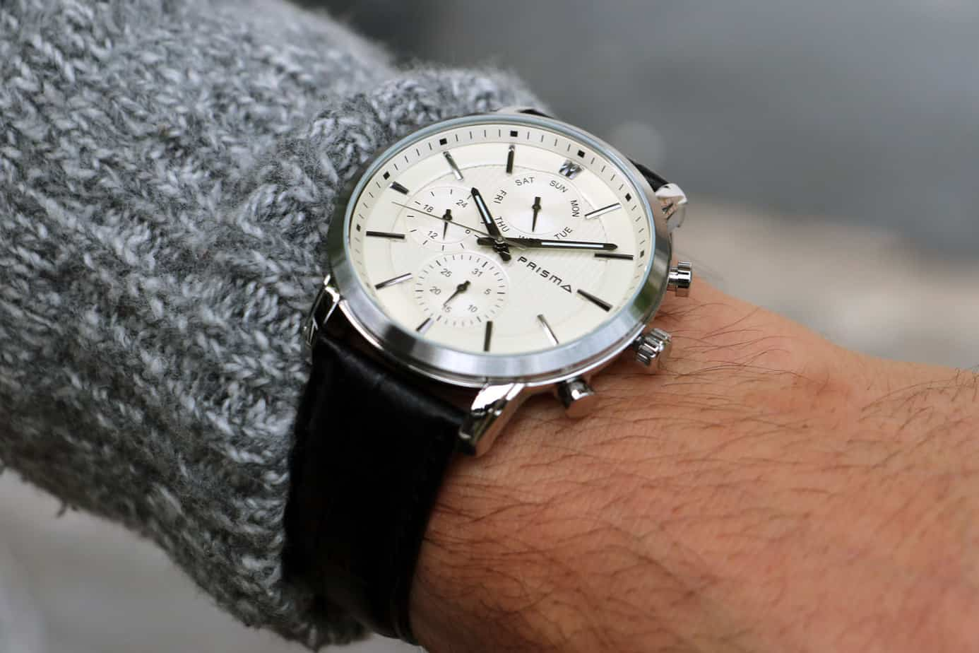 Prisma horloge herenhorloges men watches Traveller Refined Beige watch