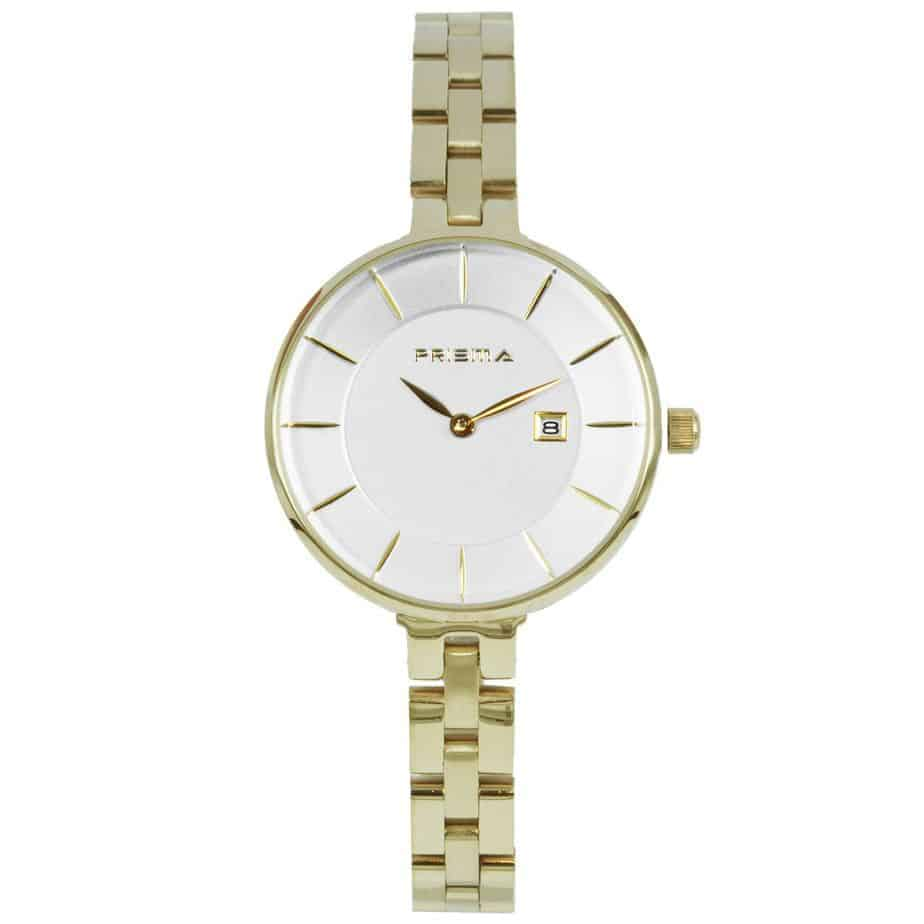 Prisma-P1528-dames-horloge-edelstaal-goud-l