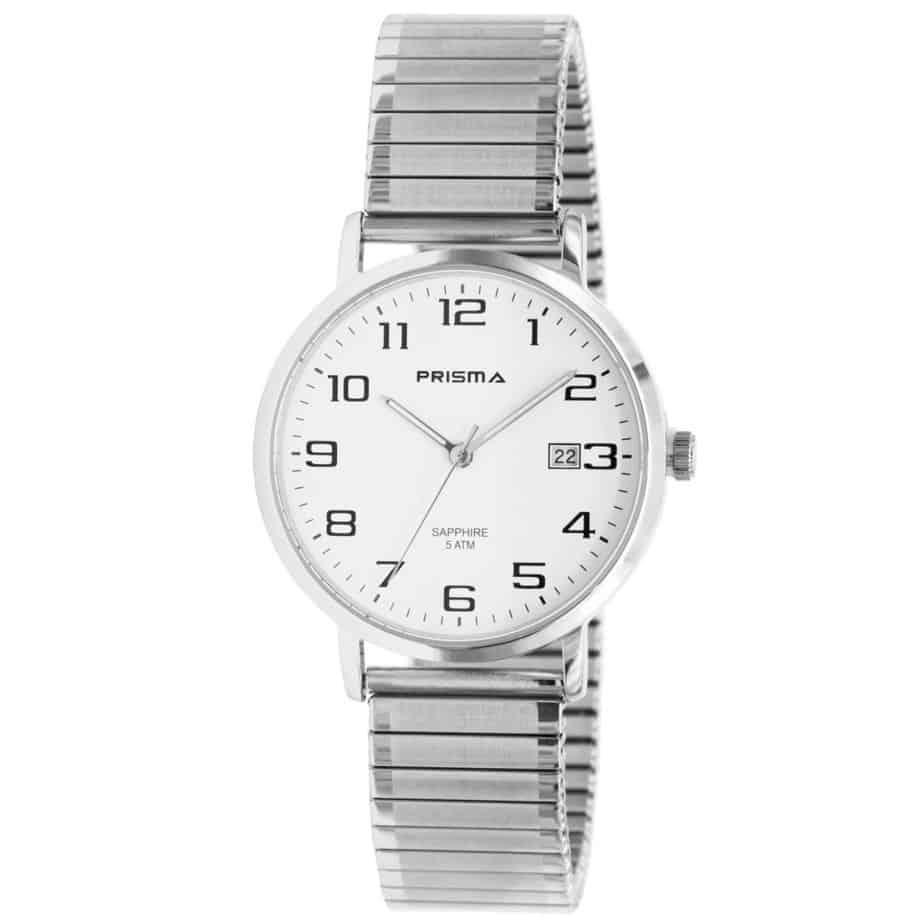 Prisma-P1750-horloges-heren-edelstaal-rekband-datum-saffier-l