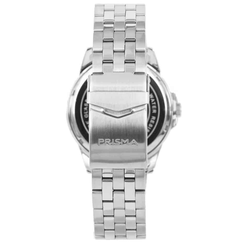 Prisma-P1665-heren-horloge-edelstaal-saffier-achterkant