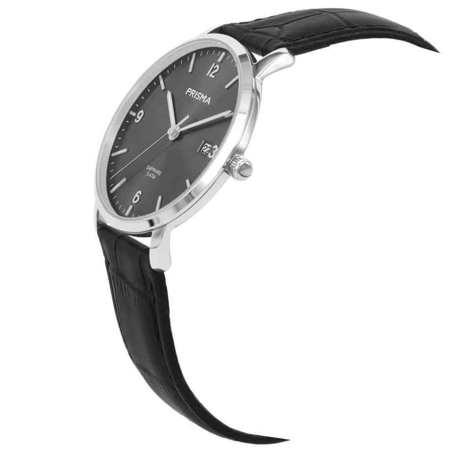 Prisma-P1646-heren-horloge-edelstaal-grijs-schuin
