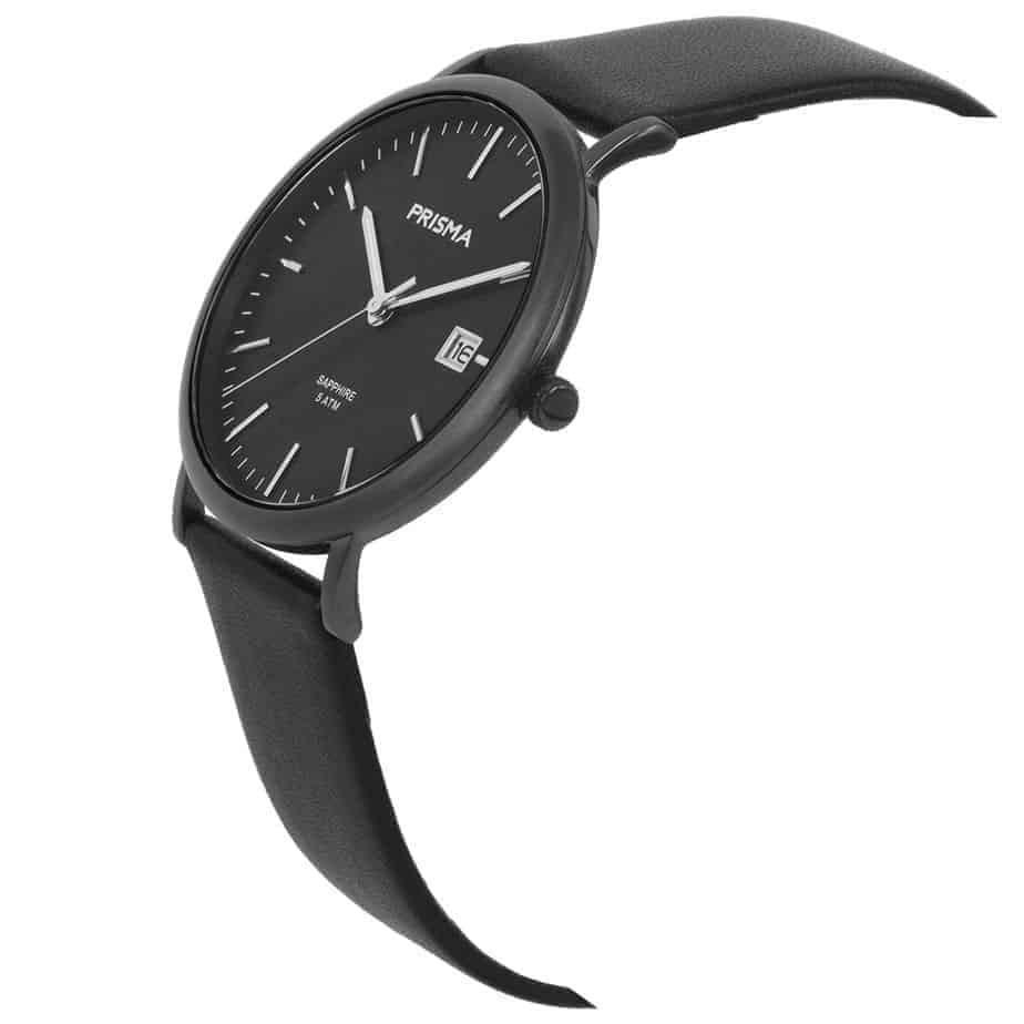Prisma-P1669-heren-horloge-titanium-zwart-schuin