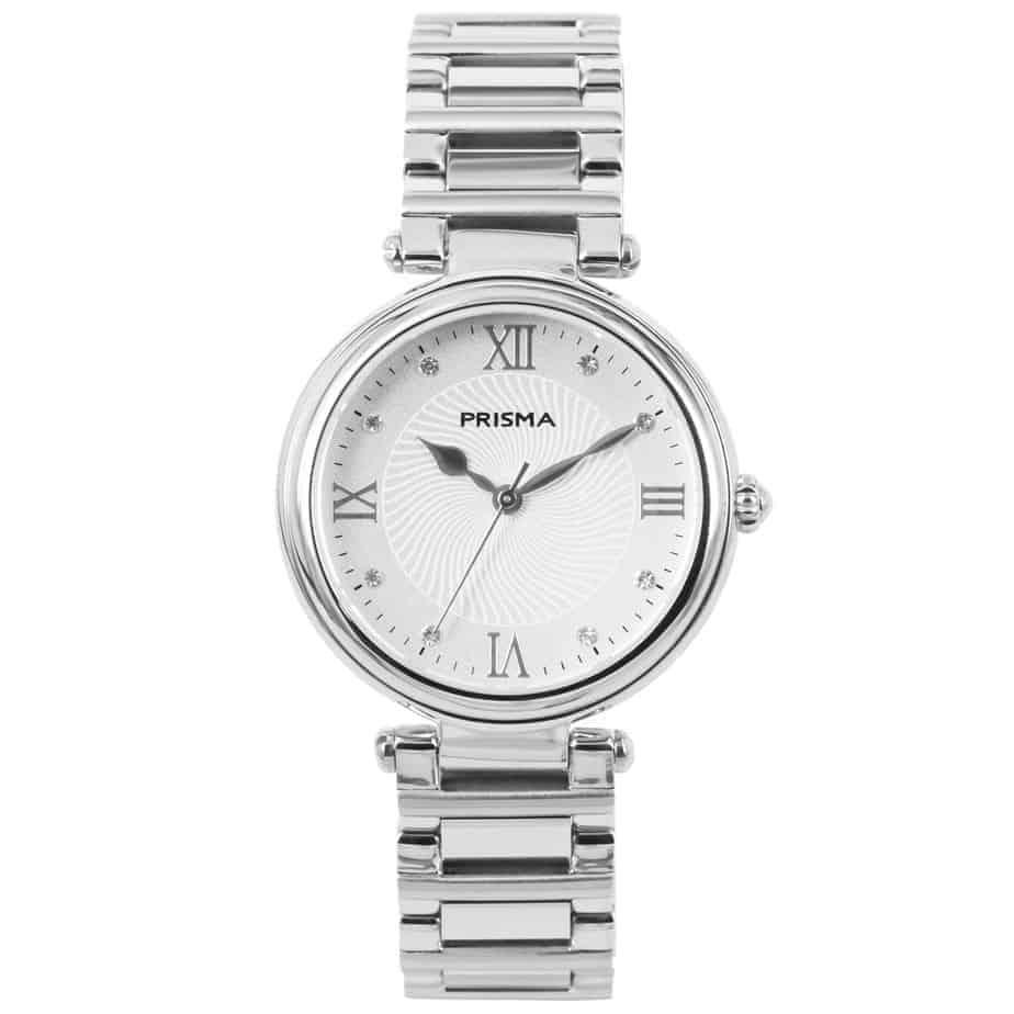 Prisma P1450 Dames horloge edelstaal zilver zwitsers royal constant watch