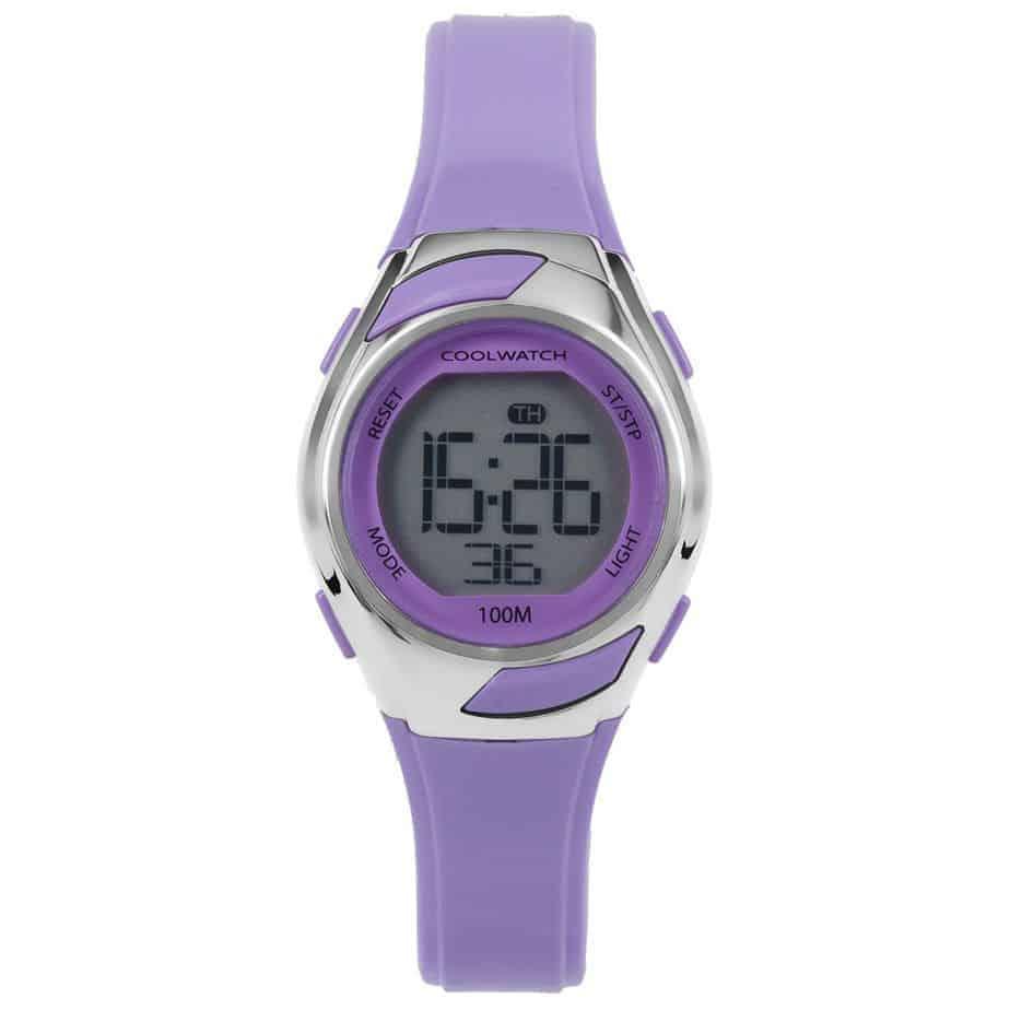 Coolwatch-CW347-meisjes-horloge-digitaal-paars-lila-kunststof-l