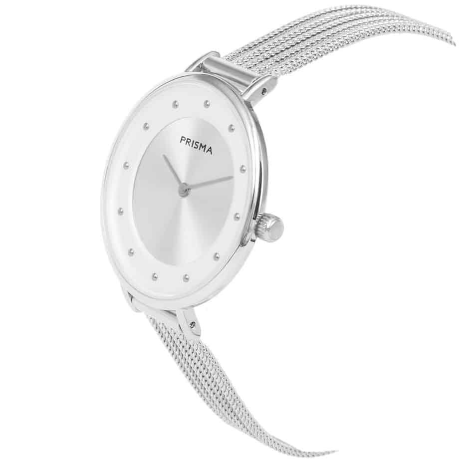 Prisma-P1878-dames-horloges-edelstaal-milanees-zilver-schuin-l