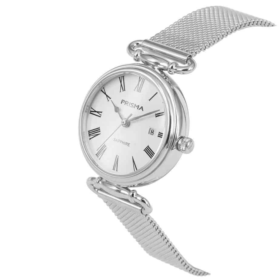 Prisma-P1933-dames-horloge-edelstaal-saffier-milanees-schuin-l