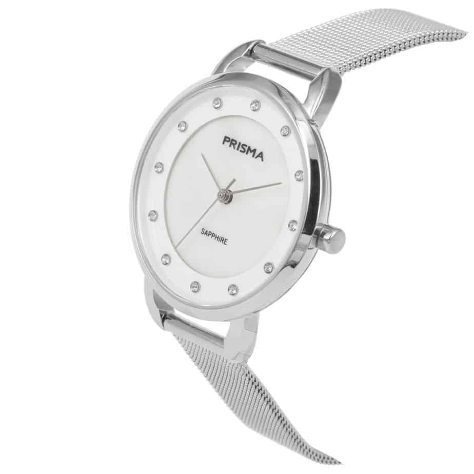 Prisma-P1939-dames-horloge-edelstaal-milanees-zilver-schuin-l