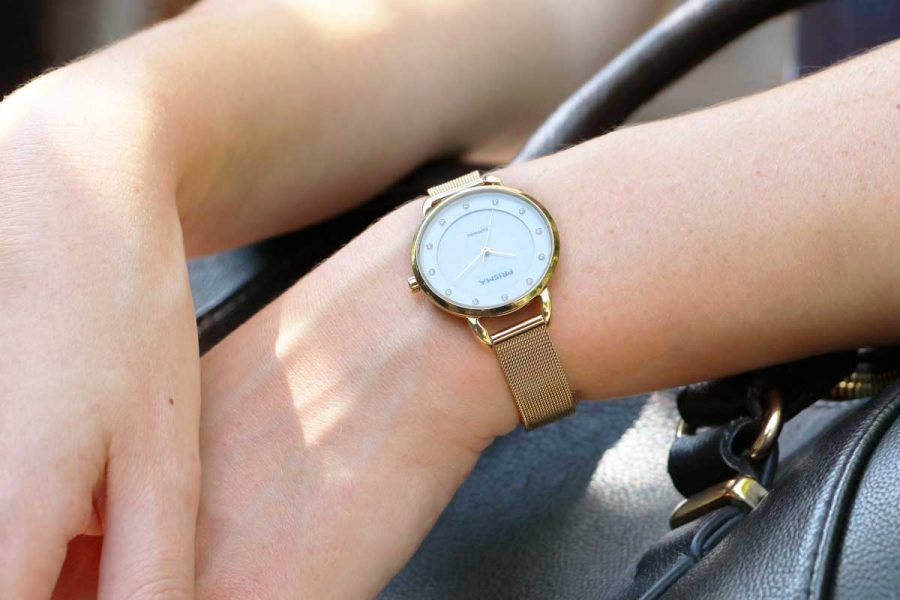 prisma pure rhombic gold goud horloge