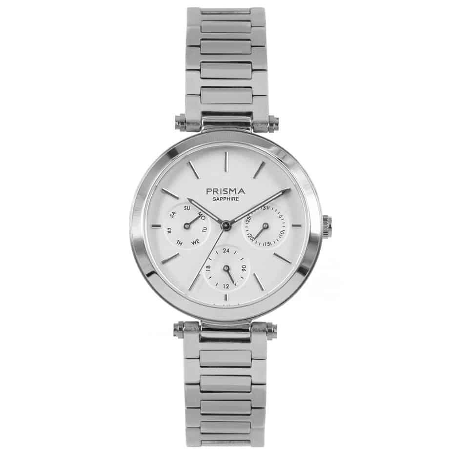 Prisma-P1340-dames-horloge-multifunctie-zilver-edelstaal