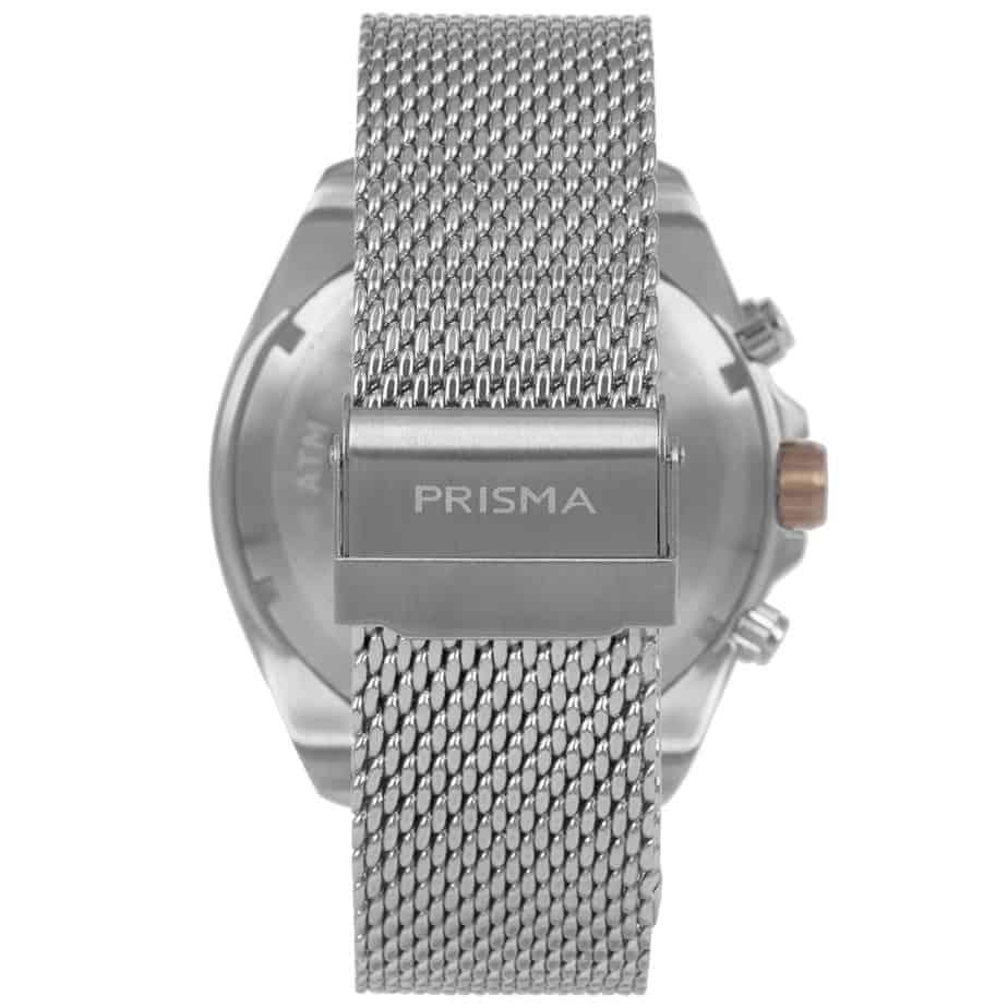 Prisma P1327 heren horloge chronograaf mesh rosegoud