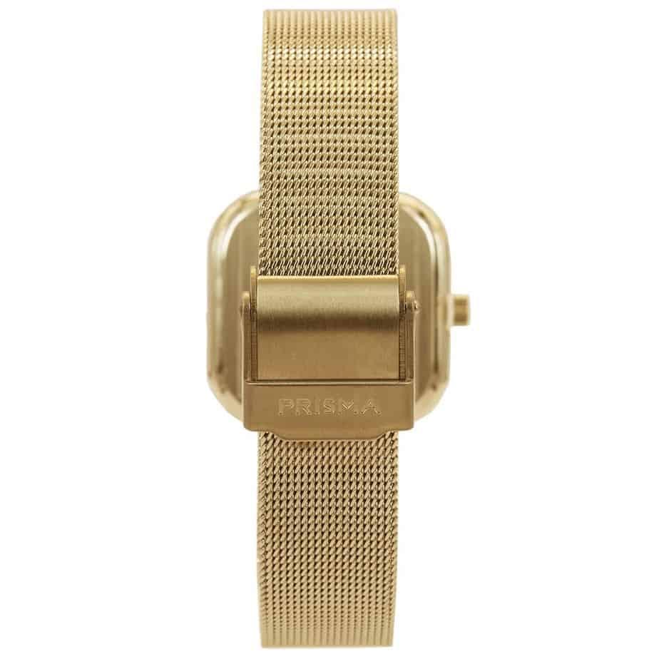 Prisma-P1871-dames-horloge-edelstaal-goud-vierkant-achterkant