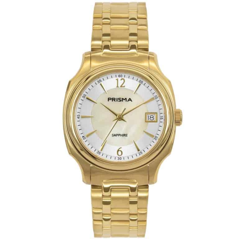 Prisma-P1137-dames-horloge-edelstaal-solid-goud