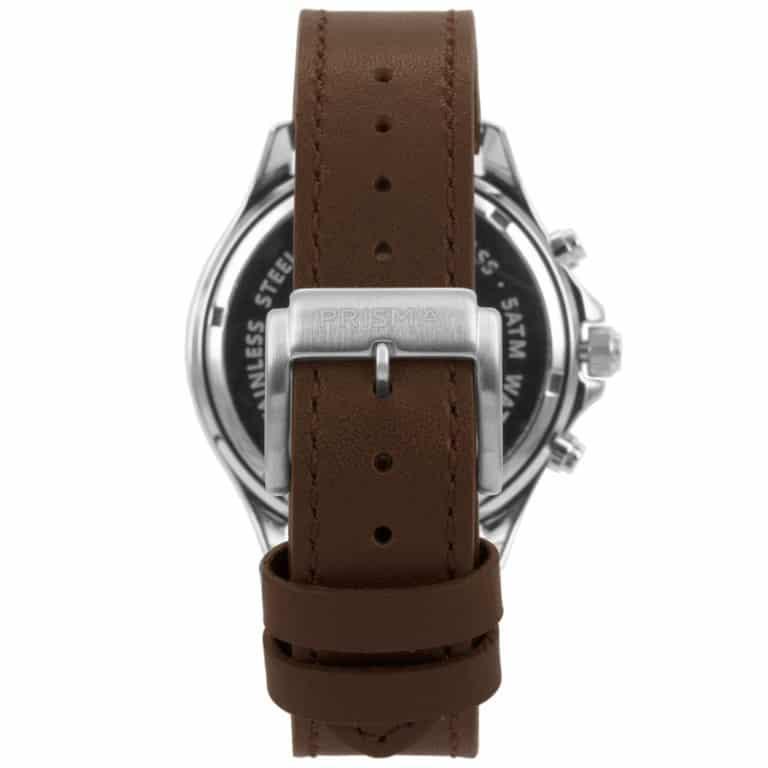 Prisma-P1322-heren-horloge-chrono-blauw-leder-achterkant
