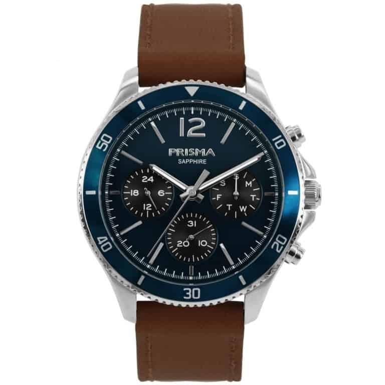 Prisma-P1322-heren-horloge-chrono-blauw-leder